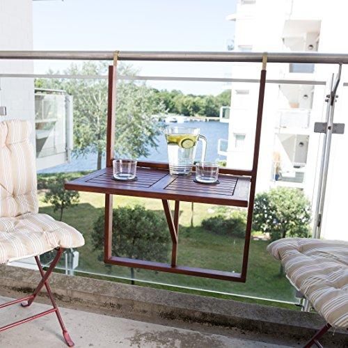 Ultranatura Tavolino da Balcone, Tavolino Sospeso in Legno ...