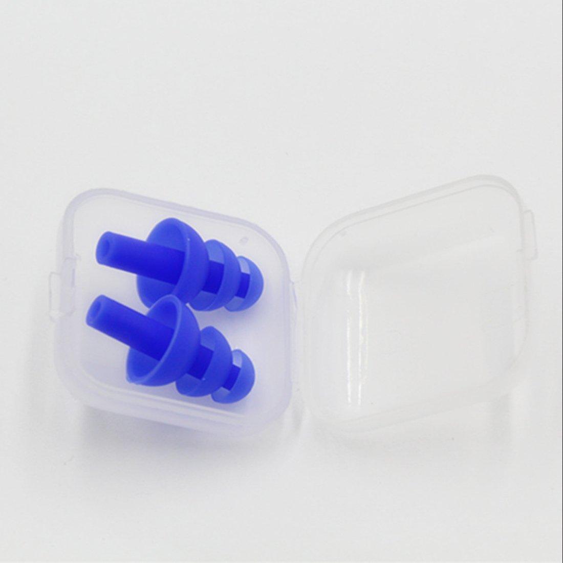 NoyoKere Tapones para los o/ídos de silicona suave a prueba de agua Protecci/ón para los o/ídos Aislamiento ac/ústico Ruido anti ruido para dormir para la reducci/ón de ruido