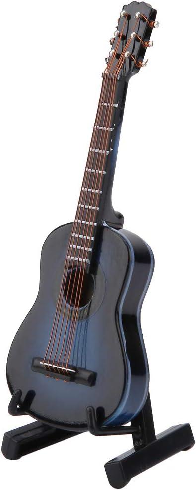 Modelo de Guitarra En Miniatura Pantalla de Instrumentos Musicales ...