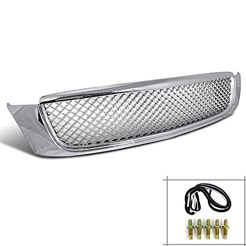 Rxmotor Cadillac Deville Dhs Base Dts Mesh Front Hood Bumper Grill Grille 2000-2005 (Chrome)