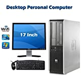 HP Desktop Combo Bundle ! HP dc7800 SFF Desktop Complete Computer Package with Intel Core 2 Duo 2.33GHz - 4GB RAM - 160GB HDD- DVD ROM- Windows 7 Pro 64-Bit - Keyboard, Mouse + WiFi + 17 Inch Dell Monitor