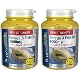 Premium Quality Omega 3 1000mg | Pharmaceutical Grade | Providing EPA & DHA | 360 Capsules in total | 100% money back guarantee | Manufactured in the UK