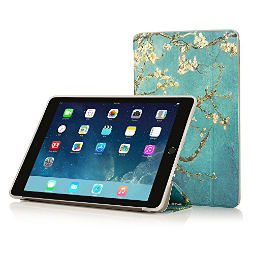 RUBAN iPad Air 2 Case (2014 release) - Slim Lightweight Smart Shell Anti-Scratch Non-Slip Protective Flexible Soft TPU Back Cover with Auto Sleep / Wake for Apple iPad Air 2 ()