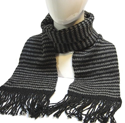 Alpaca Striped Scarf (Alpaca Wool Striped Scarf Scarves 6