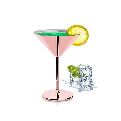 819c0cf7ca2 Large Stainless Steel Martini Glasses Goblets Cocktail Wine Bar Fancy Wine  Goblet (Rose Gold)