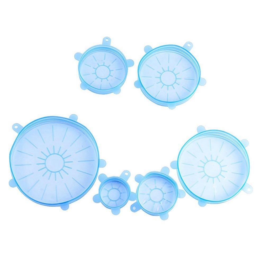 symboat 6pcs Silicone Stretch impermeabile all' aria Coperchio mantenere fresco Fuga Proof ciotola di cibo taglio tazza coperchio