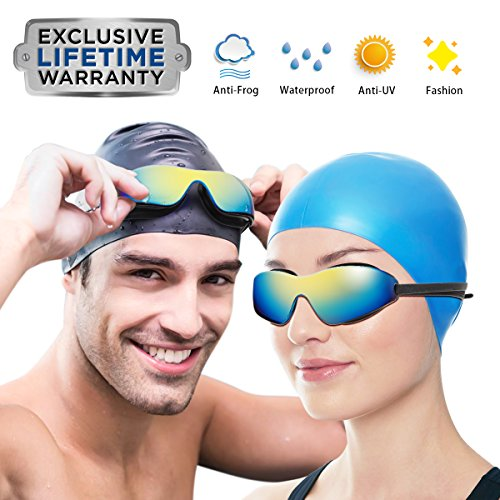 Dom Marzen Swimming Goggles Professional UV Protective Beach Outdoor Pool Clear Soft Silicone Nose Bridge Swim Goggles 2018 for Women Men Adult Youth Kids