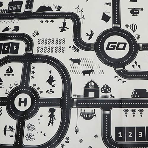 LKW 130 x100cm Baby Spielteppich Spielmatte Kinderteppich Verkehr Stra/ße Teppich f/ür Auto Zug Spielzeug