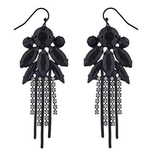 Noir Earrings Black (Noir Jewelry Black Plated Earrint Sace Statement Earrings)