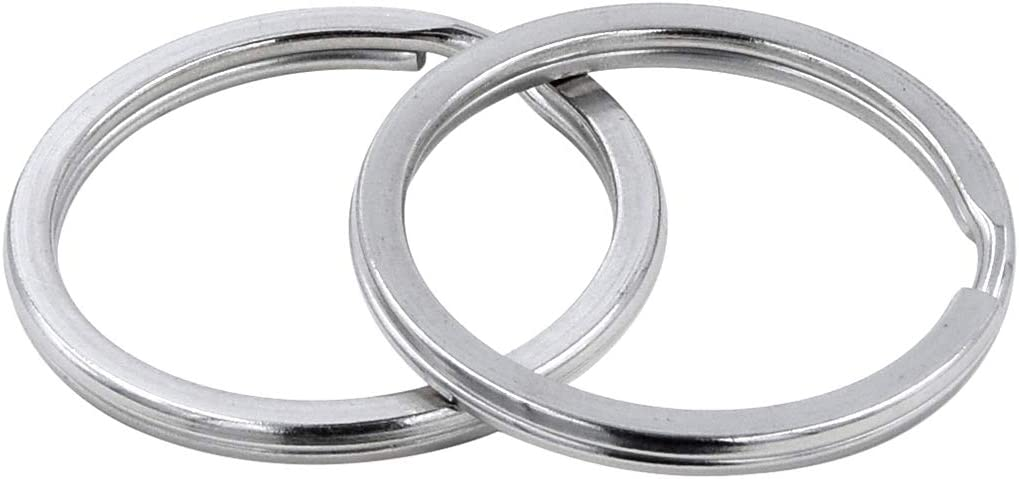 15mm,20mm,25mm,30mm,35mm. 25 Key Rings 304 Stainless Steel Round Flat Split Keychain Ring for Car Keys Organization DIY Attachment Bulk Pack of 25 PCS