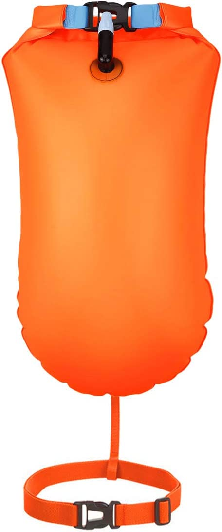 Garberiel 20L Waterproof Swim Buoy, Waterproof Dry Bag Swim Safety Float and Drybag for Open Water Swimmers, Triathletes, Kayakers and Snorkelers, Highly Visible Buoy Float for Safe Swim Training