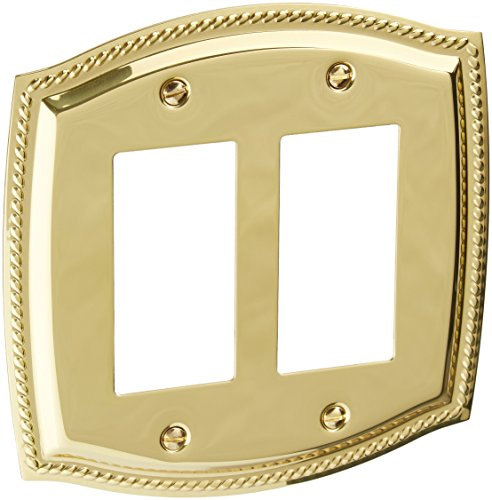 Baldwin 4797030 Double GFCI Rope Switch Plate, Bright ()