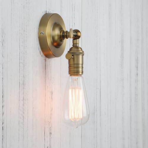 Permo Minimalist Single Socket 1- Light Wall Sconce Lighting with On/Off Switch (Wall Sconce Bulb Type)