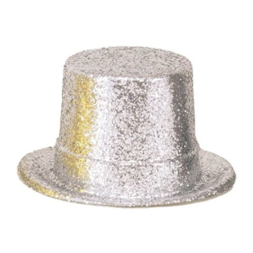 Old Hollywood Halloween Costume Ideas (Glamorous 20's Old Hollywood Themed Party Glitter Top Hat Accessories, Silver, Plastic , 5