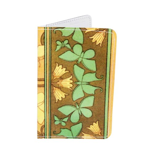 - Butterfly Art Nouveau Business, Credit & ID Card Holder