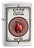 Zippo Trading Card Pocket Lighter, Brushed Chrome