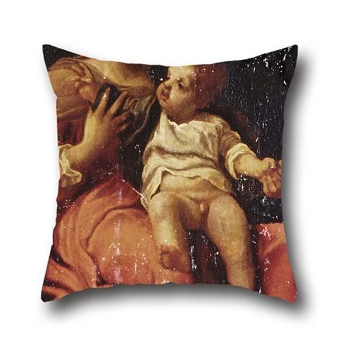 [Oil Painting Correggio - Madonna And Child Cushion Cases ,best For Teens Girls,birthday,seat,girls,car Seat,kids 16 X 16 Inches / 40 By 40 Cm(twin] (80s Rock N Roll Costumes)