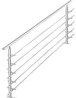 V2Aox Barandilla Escalera Balustrade Pasamanos Acero Inoxidable 180cm 5 Tubo