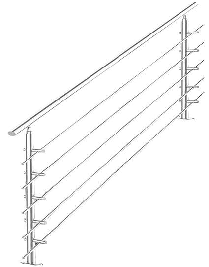 V2Aox Barandilla Escalera Balustrade Pasamanos Acero ...