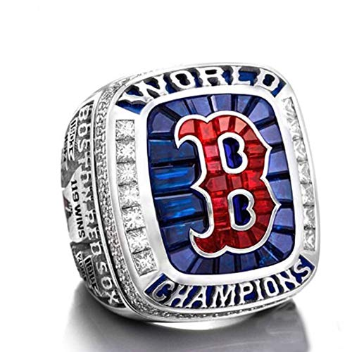 - Flying Dreamer 2018 Red Sox (Steve Pearce) Rings Championship Replica Ring Size 11-Memorabilia with Exquisite Wooden Box,Gift for Men