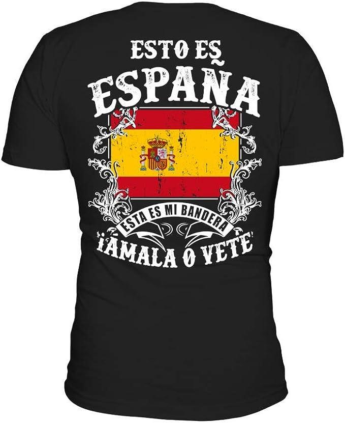 TEEZILY Camiseta Hombre Esto es españa Esta es mi Bandera Amala o ...