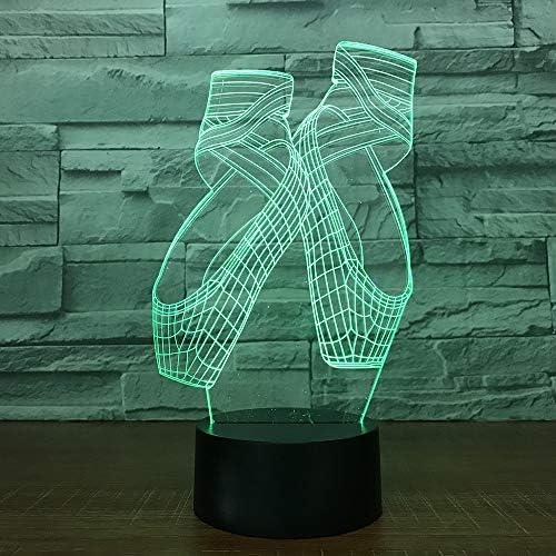 FISSEN 3D des chaussons de danse LED Lampe d'illusion