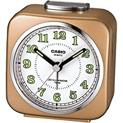 Casio Tq-158-9 Table Top Travel Alarm Clock Gold