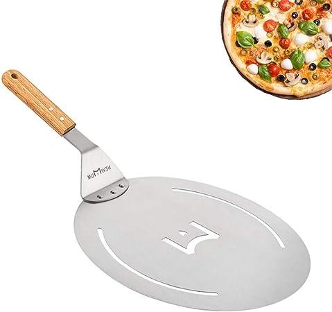 Edelstahl Runde Pizzaschieber Pizzaschaufel Holzgriff Schaufel Brotbackschieber