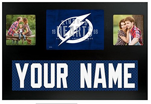 Tampa Bay Lightning NHL Custom Jersey Nameplate and Logo Picture Frame
