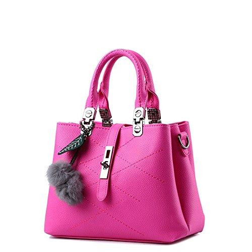 Shoulder Donna Borse pelle Tote AVERIL Handbag a Bag a borsa Borsa Rosa Spalla mano Rossa Bag G qOxEw8ff