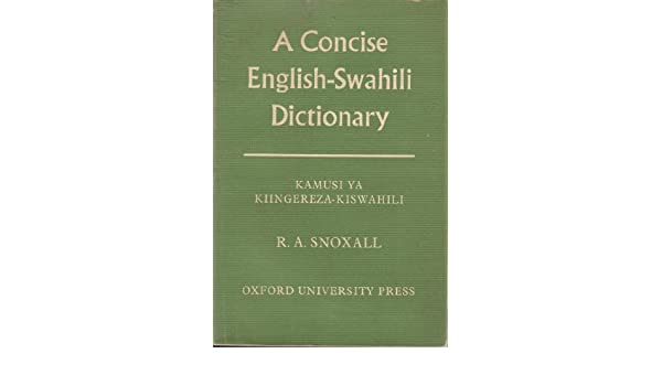 Standard Swahili-English Dictionary by unknown Paperback Book The Fast Free