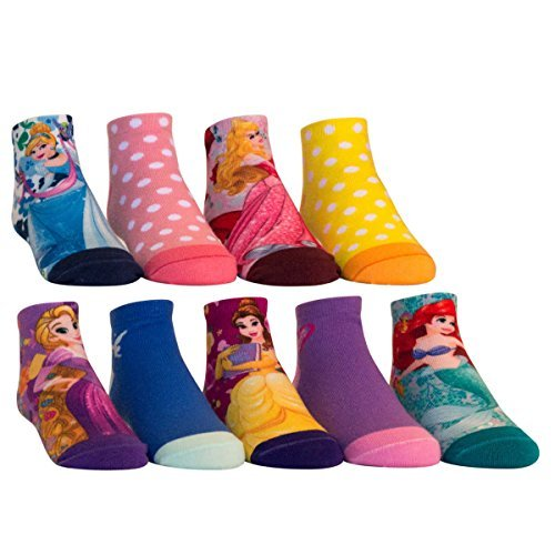 Disney Princess Frozen Girl's Quarter Sock 9 Pairs (L, Princess) for $<!--$8.99-->