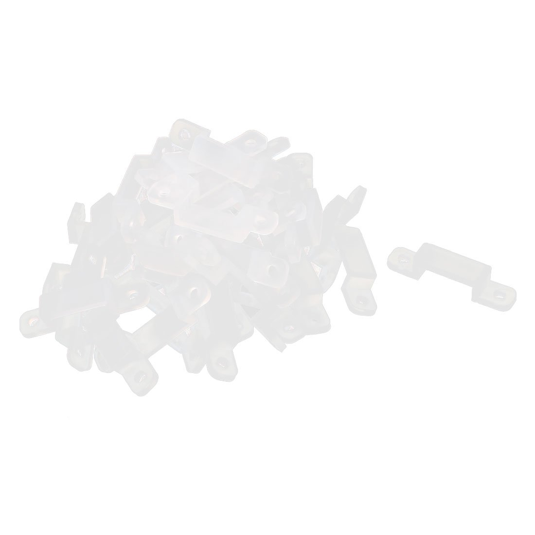 sourcing map Silicone Clips 40 Pcs for Fixing 10mm 3528 5050 5630 LED Light Strip US-SA-AJD-126803