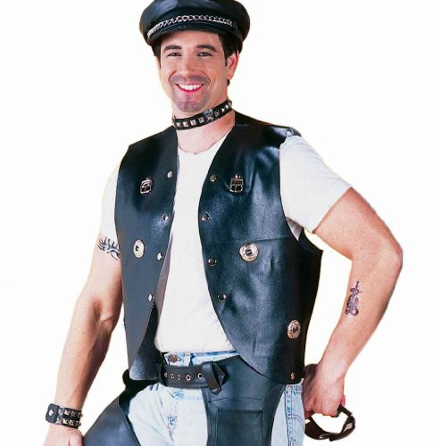 Forum Novelties Men's Goth Punk Rocker Costume Vest, Black, One Size