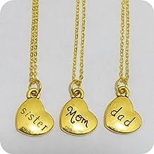 Dad Mom Sister , Dad Mom Sister Necklace, Personalized Dad Mom Sister Necklace, Dad Mom Sister Memorial Necklace, Dad Mom Sister Birthstone Necklace in Memory of Dad Mom Sister