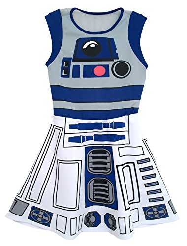 Star Wars I Am R2D2Costume Skater Dress