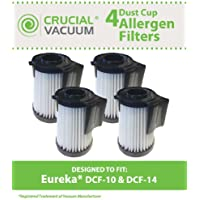 4 Replacement for Eureka DCF-10 & DCF-14 Filter Fits Optima Series, Compatible With Part # 62731 & 62396, by Think Crucial