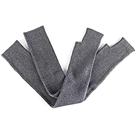 Ywzhushengmaoyi Ladies Gloves Women's Knit Arms Warm Thick Cotton Sleeve Cold Weather Gloves (Color : Gray, Size : M)