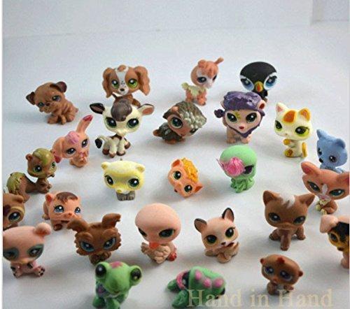 Littlest Pet Shop 30pcs Anime Cute Animals Q Pet Shop 2 inch Action Figure Collection Toys Scale Models Brinquedos For Children