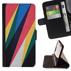 For Sony Xperia Z3 D6603 Case , Motif de plastique minimaliste Rouge Jaune - la tarjeta de Crédito Slots PU Funda de cuero Monedero caso cubierta de piel