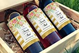 ● SET of 4 ● Pregnancy Announcement Wine Labels - FRIENDS ● SET includes 4 - Only the Best Friends Get Promoted To Aunt - Wine Bottle Labels, Pregnancy Reveal, WEATHERPROOF, Brush Font, 450G-4F