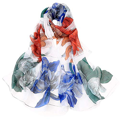 Fashion Scarfs for Women Hot Sale,DEATU Girls Floral/Lotus Printing Long Soft Wrap Scarf Ladies Shawl Scarves(b-A) (Scarf Cashmere Hermes)