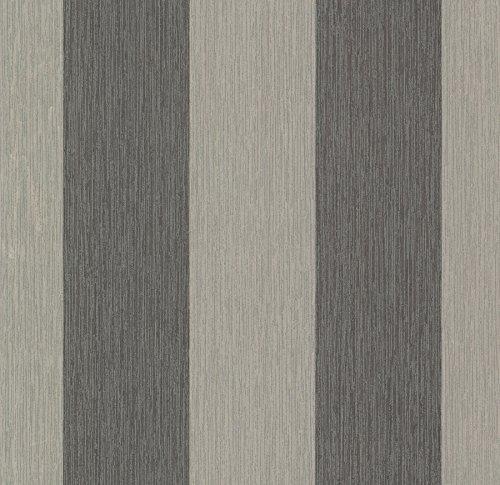 Chesapeake SRC10289 Kittery Affinity Stria Wallpaper, Black ()