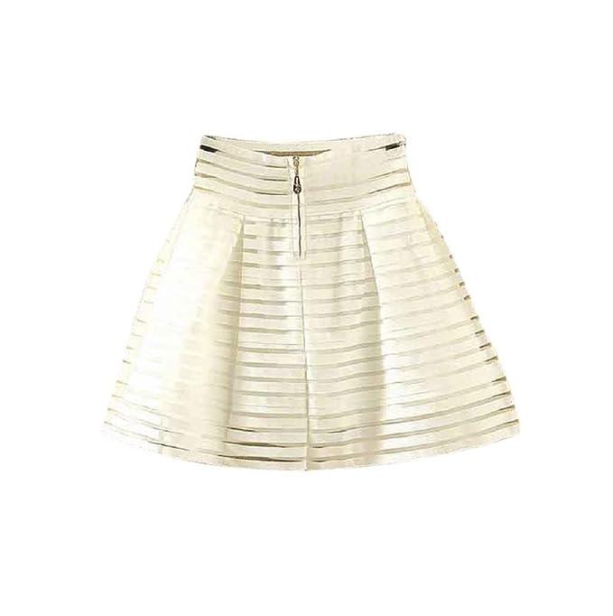 Sannysis Falda Mujer Maxi Faldas, Midi Falda de Cintura Alta con ...