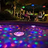 Underwater Floating Lamp Waterproof Colorful LED Bathroom Light Underwater Pool Party Bathtub Glowing Lamp (Colorful bathtub lights)
