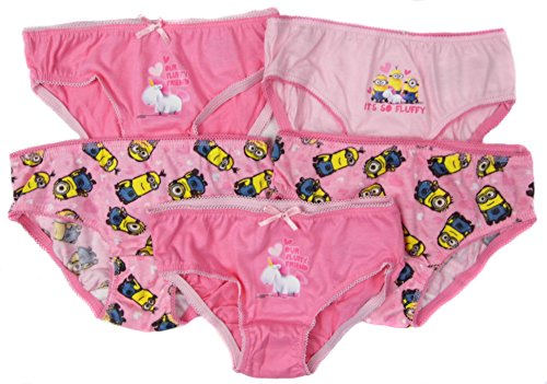 Girls Minions Despicable Me Five Pack Knickers Briefs Pants Age 3-4 Years Only