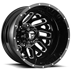 "Brand: Fuel Style: D581 Triton Dually Rear Size: 20x8.25 Bolt Pattern: 8x165.1 (8x6.5"") Offset: -265mm Backspacing: Hub Bore: 121.6mm Finish: Gloss Black/Milled Quantity: 1"