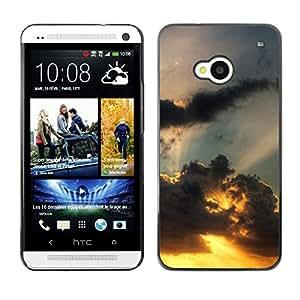 Be Good Phone Accessory // Dura Cáscara cubierta Protectora Caso Carcasa Funda de Protección para HTC One M7 // Sunset Beautiful Nature 110