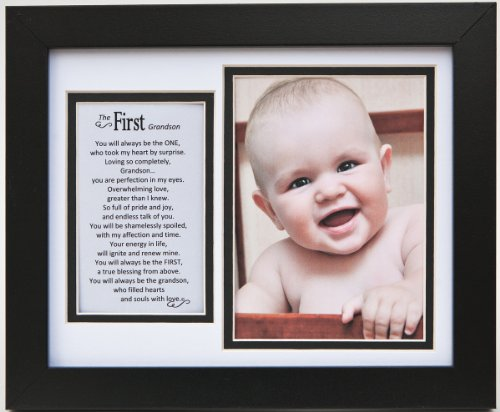 The Grandparent Gift Frame Wall Decor, First Grandson (Pictures Presents)
