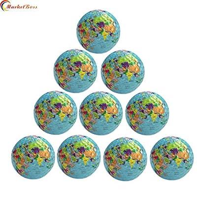 MarketBoss 10pcs World Earth Globe Golf Ball Gift World Map Occasion Practice Trainning Golf Ball
